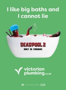 Victorian Plumbing Deadpool 2 Advert