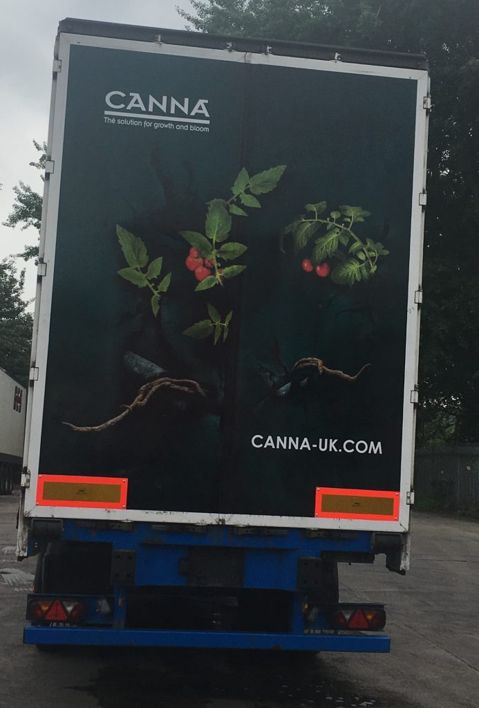 Canna Truck Advertising Rear