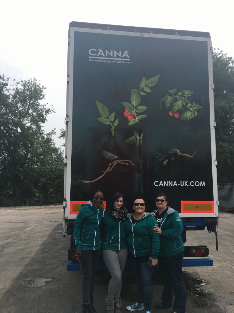 Canna Truck Advertising campaign with marketing team