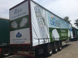 PDS Hygiene truck advertising campaign overview