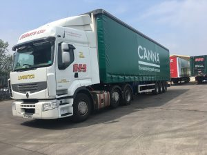 Canna Truck Advertising Front