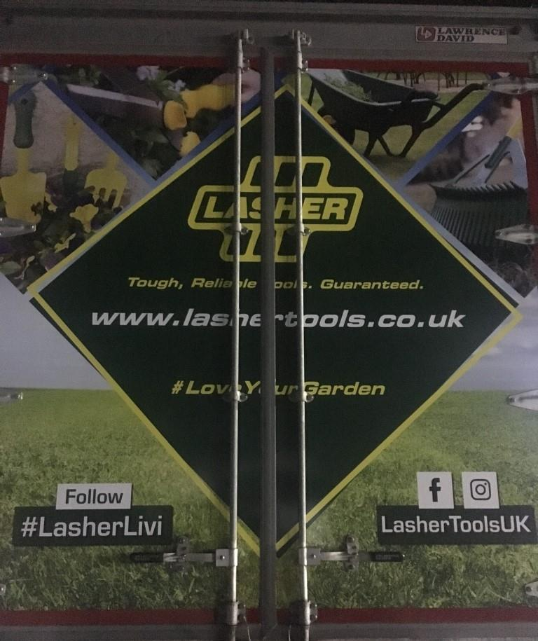 Lasher Tools Truck Advertising Campaign