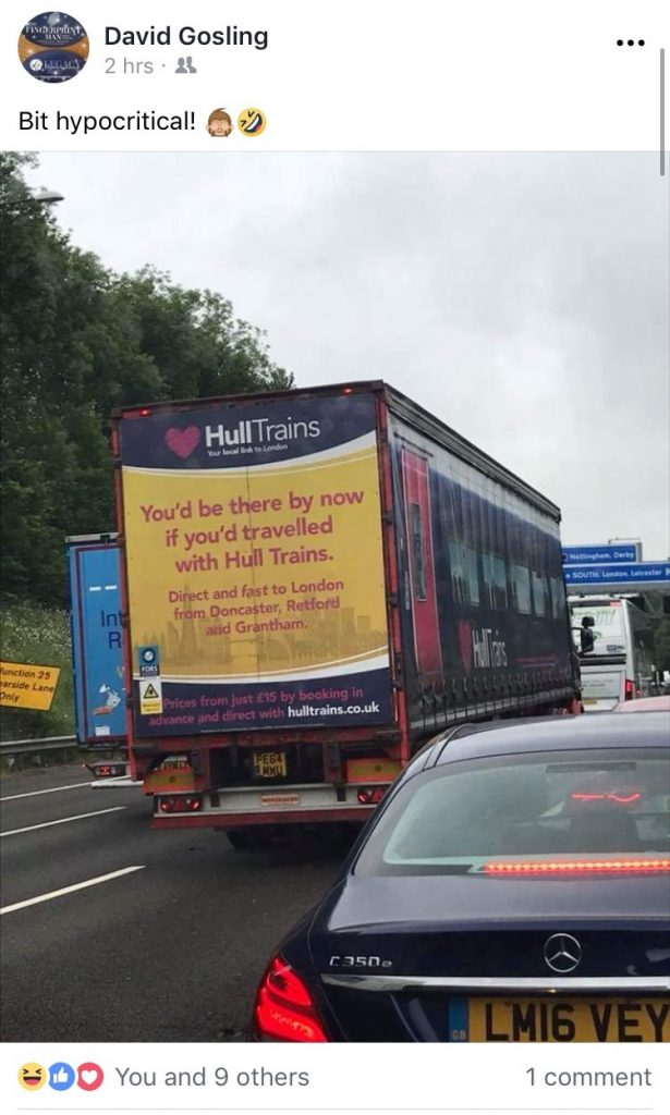 Truck Advertising Campaign Spotted on the M1