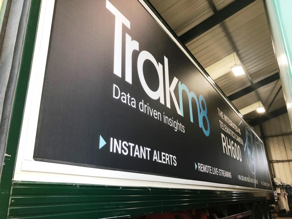 Trakm8 truck advertising side pannel
