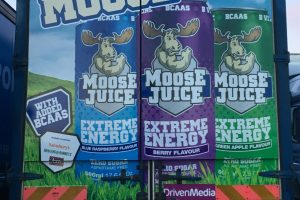 Moose Juice on a truck