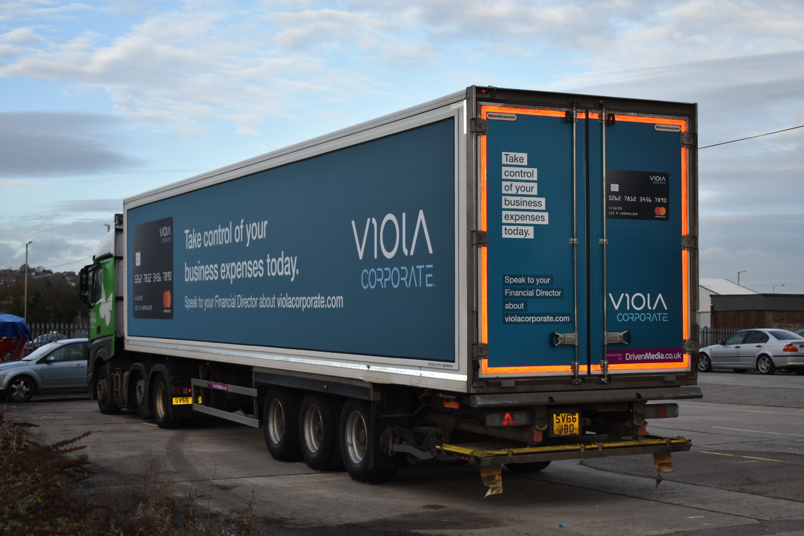 Viola Corporate truck advertising