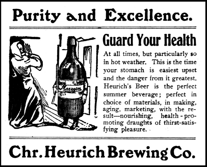 old newspaper advert showing how alcohol advertising used to be carried out
